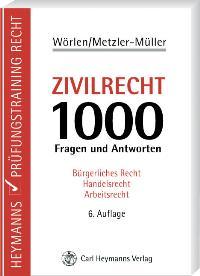 Zivilrecht: 1000 Fragen und Antworten von Rainer Wörlen (Autor), Karin Metzler-Müller (Autor)  Auflage: 6., überarbeitete und verbesserte Auflage. (16. Juli 2007) - Rainer Wörlen (Autor), Karin Metzler-Müller (Autor)