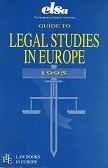Guide to legal studies in Europe 1995