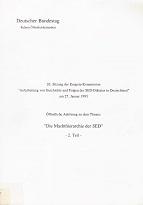 Deutschland: Protokoll der ... Sitzung der Enquete-Kommission Aufarbeitung von Geschichte und Folgen der SED-Diktatur in Deutschland ; 26 Teil 2., Am 27. Januar 1993