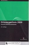 Ortsverzeichnis 2009: Gerichte und Finanzbehörden 25.Aufl.