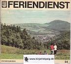 FDGB Feriendienst Heft 24. Osterzgebirge. 1.-60. Tausend