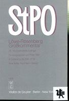 Die Strafprozeßordnung : Großkommentar. Löwe-Rosenberg [Mehrteiliges Werk] 25. neubearb.Aufl. 5. Lieferung  §§359-373a