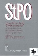 Die Strafprozeßordnung  : Großkommentar. Löwe-Rosenberg [Mehrteiliges Werk] 25. neubearb. Aufl.  22. Lieferung §§ 1-21i GVG