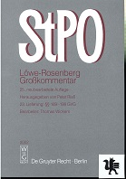 Die Strafprozeßordnung : Großkommentar. Löwe-Rosenberg [Mehrteiliges Werk] 25. neubearb.Auflage 23.Lieferung §§ 169-198 GVG