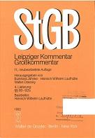 Strafgesetzbuch : Leipziger Kommentar ; Großkommentar [Mehrteiliges Werk] 11. neubearb.Auflage  4, Lieferung §§ 80-92b