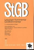 Strafgesetzbuch : Leipziger Kommentar ; Großkommentar [Mehrteiliges Werk] 11.neubearb.Auflage  29. Lieferung §§ 93-101 a