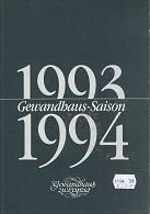 Gewandhaus Saison 1993 / 1994.