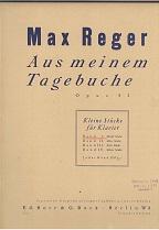 Aus meinem Tagebuche : (Kleine Stücke für Klavier op. 82). Band 1: Zwölf Stücke