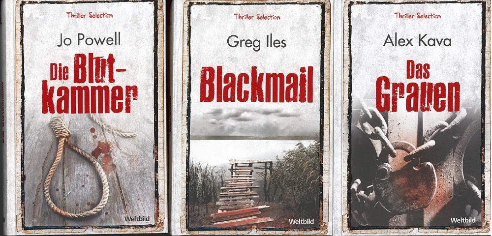 Thriller Selektion - Das Grauen, Blackmail, Die Blutkammer (3 Bände) Genehmigte Lizenzausgabe für Sammler-Editionen