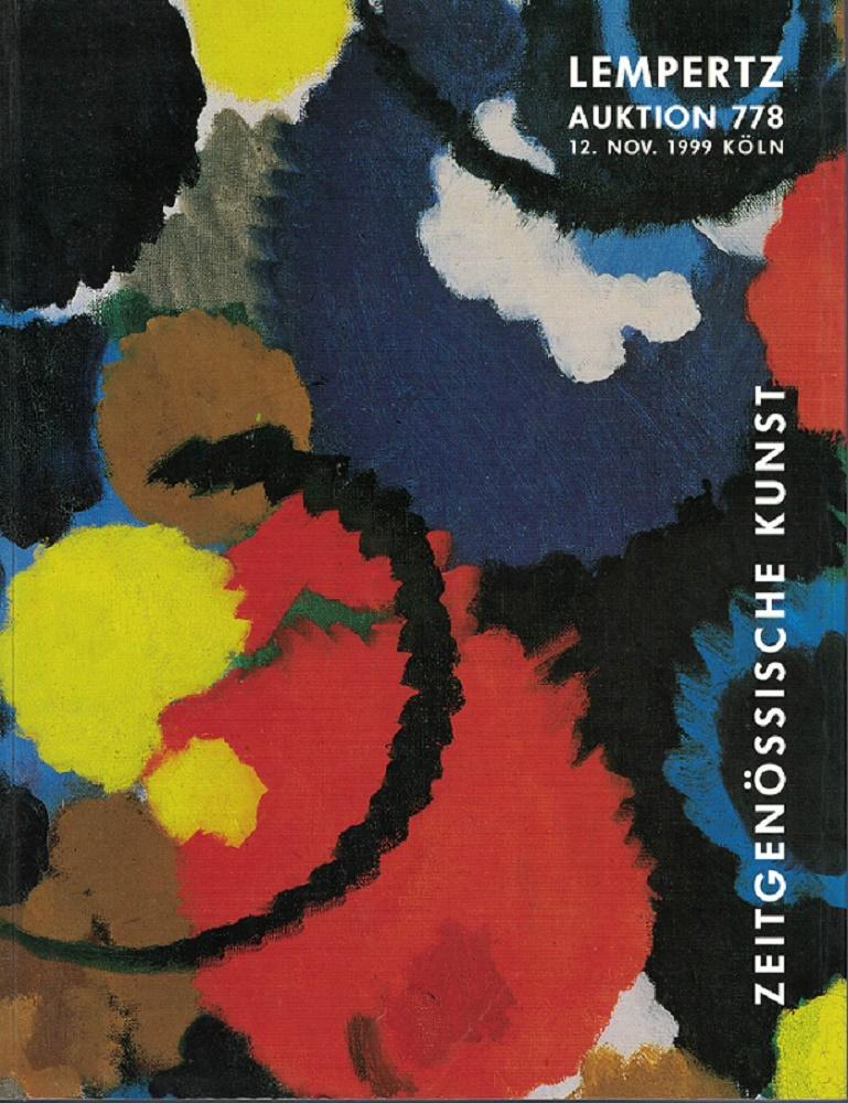 Lempertz Auktion 778 - Zeitgenössische Kunst. Versteigerung 12. November 1999.