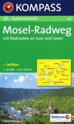 Kompass Karten, Mosel-Radweg mit Radrouten an Saar und Sauer - Kompass, 144