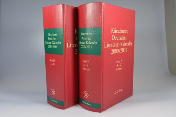 Kürschners Deutscher Literatur-Kalender 2000/2001 Band 1+2