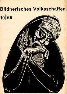 Bildnerisches Volksschaffen Heft 10 1966 mit Beilage. Zeitschrift f. Zirkel u. Arbeitsgemeinschaften d. Bildenden u. Angewandten Kunst (u.a. Grafik der Bezirksausstellung Gera 1966)