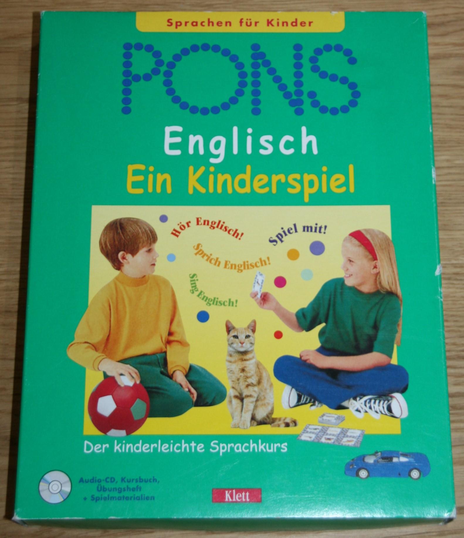 PONS Englisch - Ein Kinderspiel, 1 Audio-CD, Kursbuch, Übungsheft und Spielmaterialien