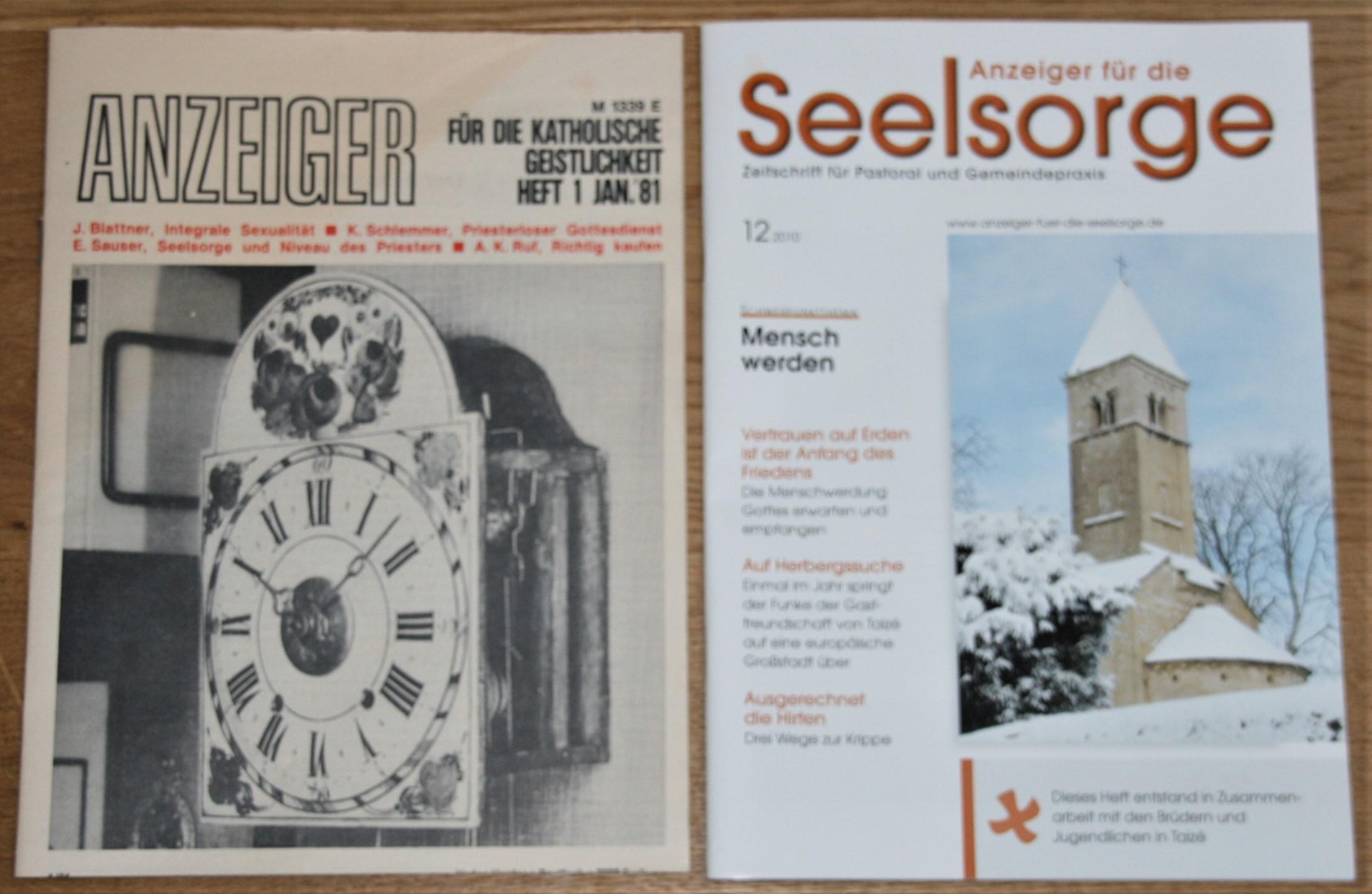 30 Jahrgänge ANZEIGER für die Seelsorge. 01/1981 - 12/2010. [Zeitschrift für Pastoral und Gemeindepraxis]