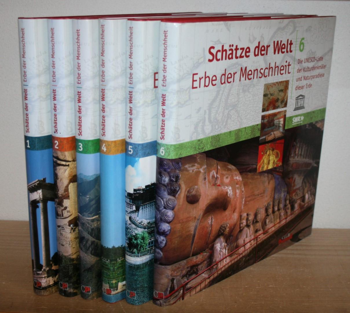 Schätze der Welt - Erbe der Menschheit. Die UNESCO-Liste der Kulturdenkmäler und Naturparadiese dieser Erde. 6 Bände.