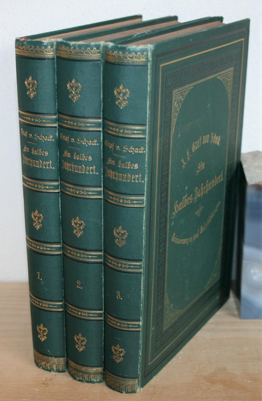 Ein halbes Jahrhundert. Erinnerungen und Aufzeichnungen. In drei Bänden. Zweite, durchgesehene Auflage.