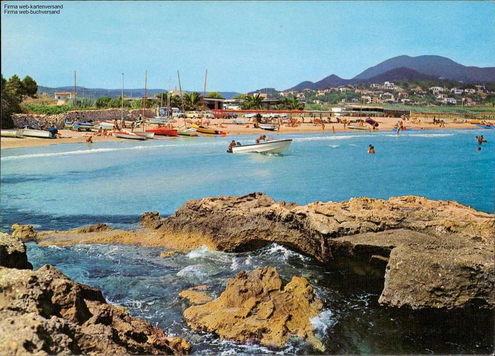 Costa Blanca, Moraira, Playa, Strand, Boote, Sommer