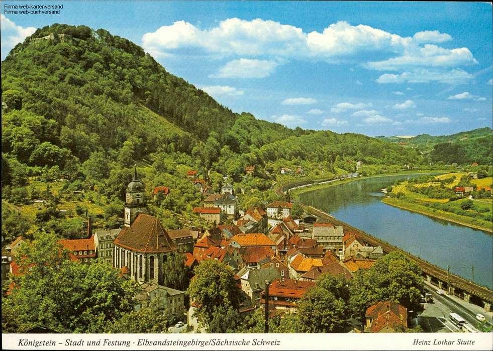 1058255 Königstein - Stadt und Festung - Elbsandsteingebirge