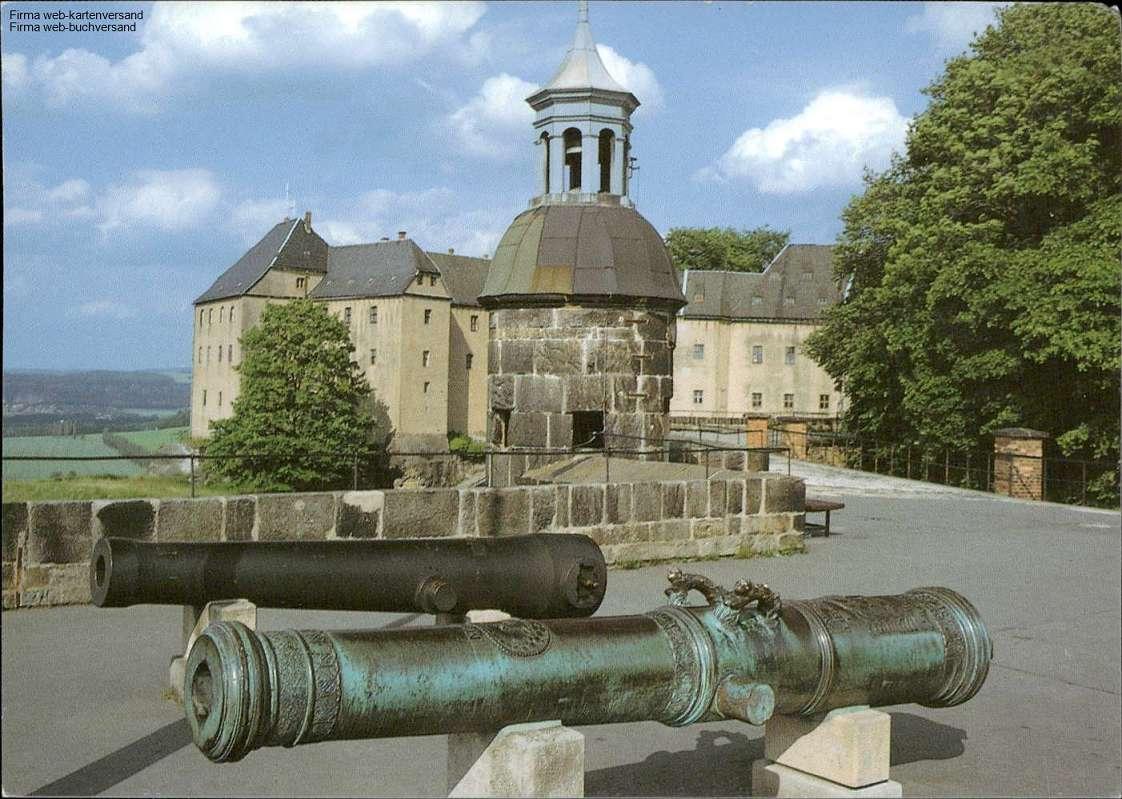 1058330 Elbsandsteingebirge, Historische Artillerie auf der Festung Königstein