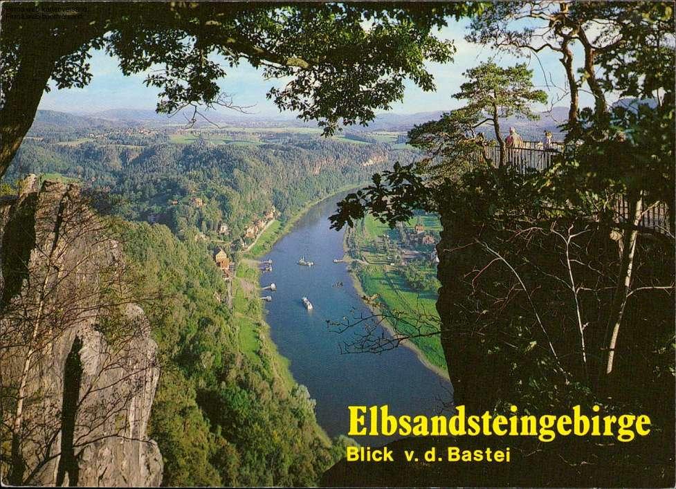 1070801 - Elbsandsteingebirge, Blick v. d. Bastei