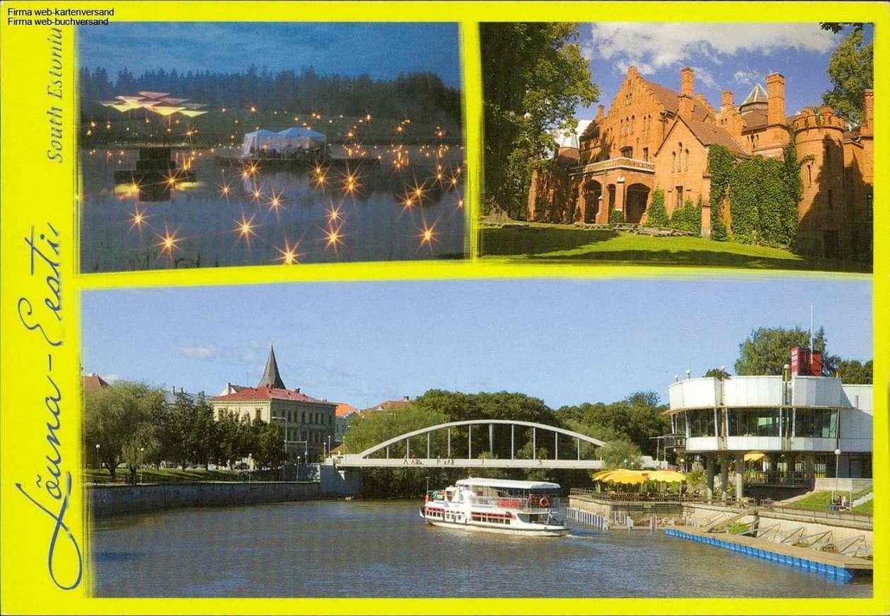 1078990  Süd-Estland, Louna-Esti,Sangaste Loss, Tartu Mehrbildkarte