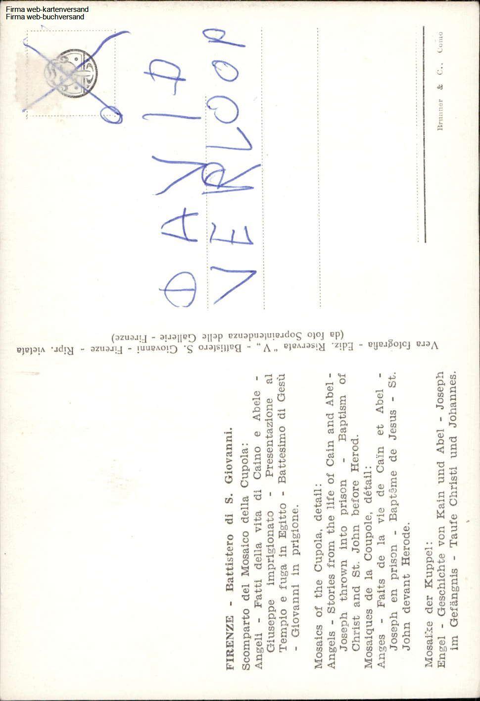 Details About 1081807 Firenze Battistero Di S Giovanni Engel Geschichte Von Kain Und Abel