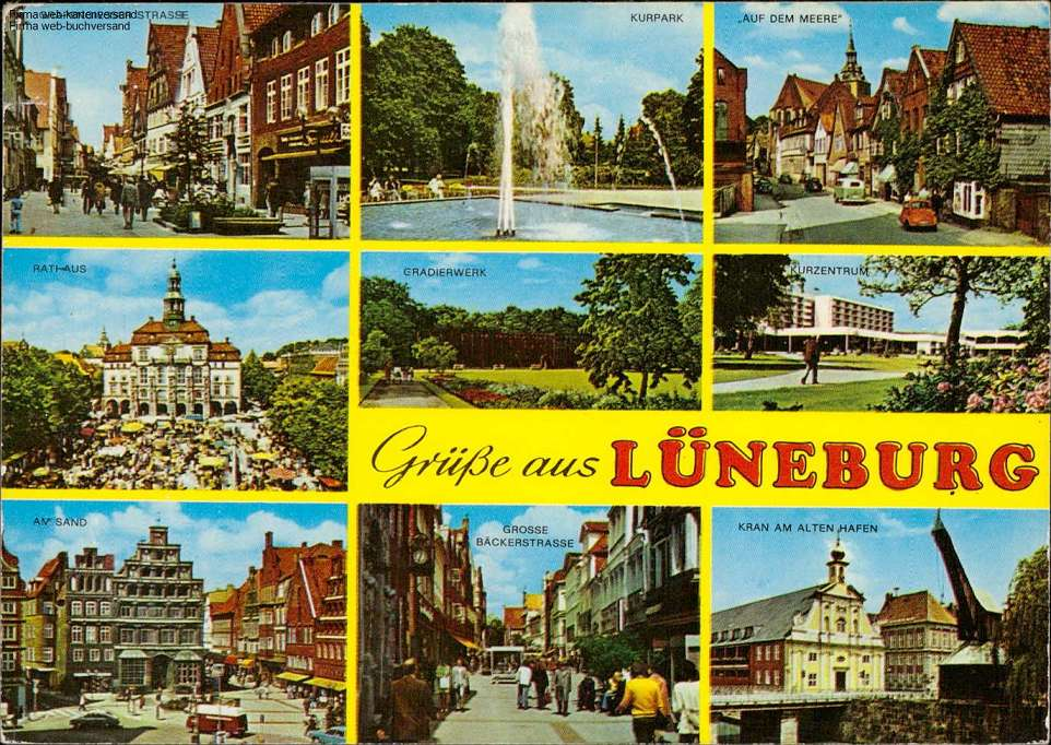 1110478 Grüße aus Lüneburg, Grapengiesser Strasse, Rathaus, Am Sand, Kurpark
