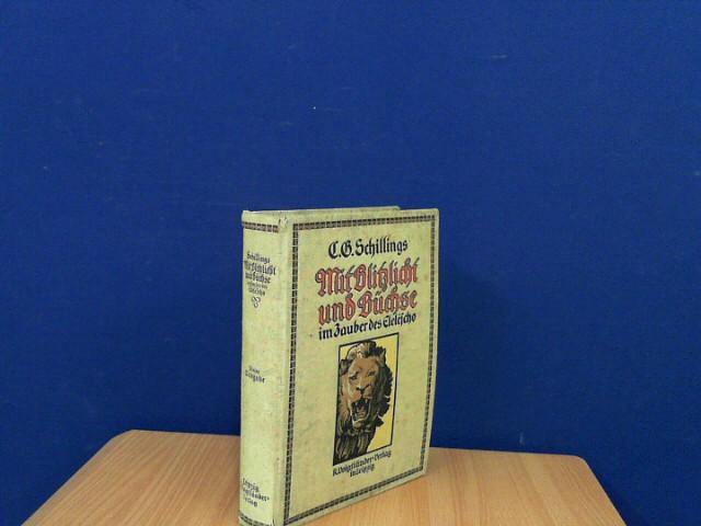 """Mit Blitzlicht und Büchse im Zauber des Eleléscho. Kleine Ausgabe der beiden Werke: """"Mit Blitzlicht und Büchse"""" und """"Der Zauber des Elelescho"""". Mit 83 photographischen Tag- und Nacht-Aufnahmen."""