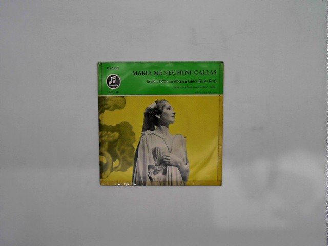 """Maria Callas, Vincenzo Bellini, Orchestra Del Teatro Alla Scala, Tullio Serafin - Keusche Göttin Im Silbernen Glanze (Casta Diva) - Cavatine der Norma Aus """"Norma"""" 1. Akt 7"""" Vinyl-single"""