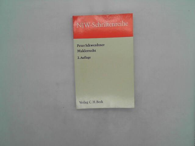 NJW-Schriftenreihe (Schriftenreihe der Neuen Juristischen Wochenschrift), H.18, Maklerrecht 2.Auflage