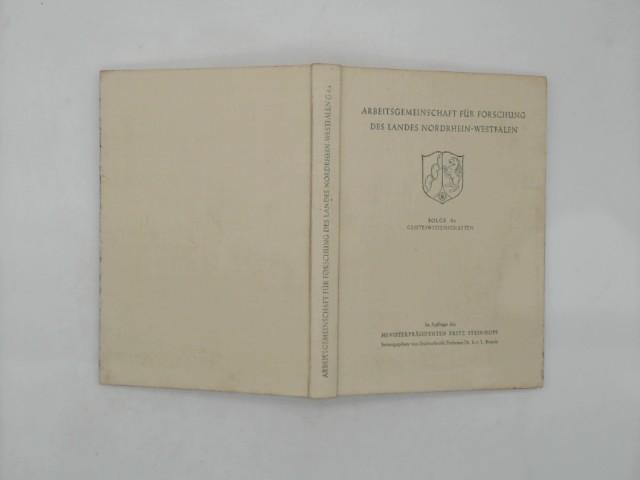 Arbeitsgemeinschaft für Forschung des Landes Nordrhein-Westfalen. Geisteswissenschaften; Band 4a.