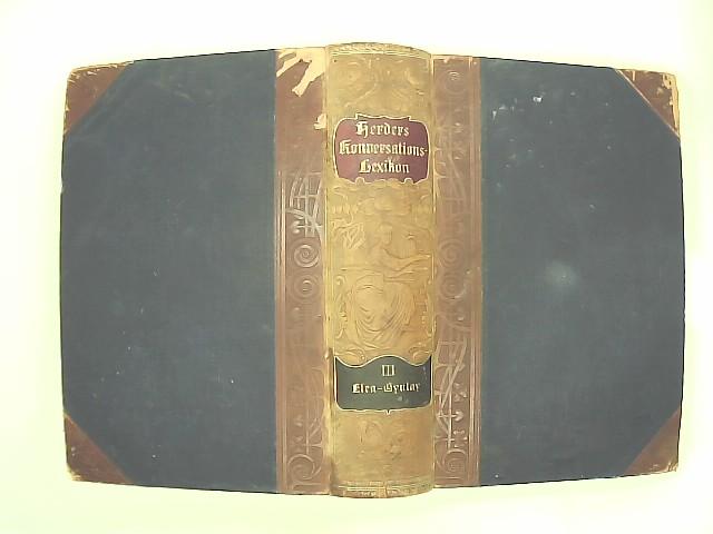 Herders Konversationslexikon 3. Aufl. Band 3 III - Elea bis Gynlay 3. Aufl.