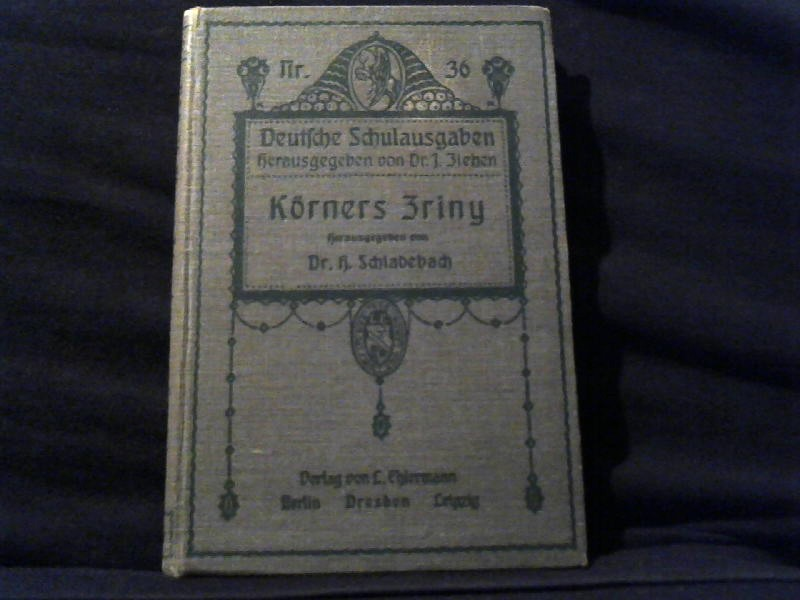 Zriny. Trauerspiel in fünf Aufzügen. 4.Auflage