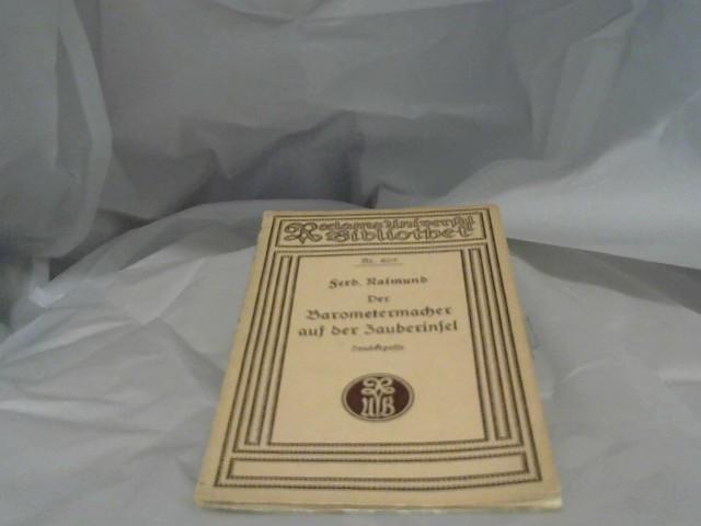 Der Barometermacher auf der Zauberinsel. Nr.805
