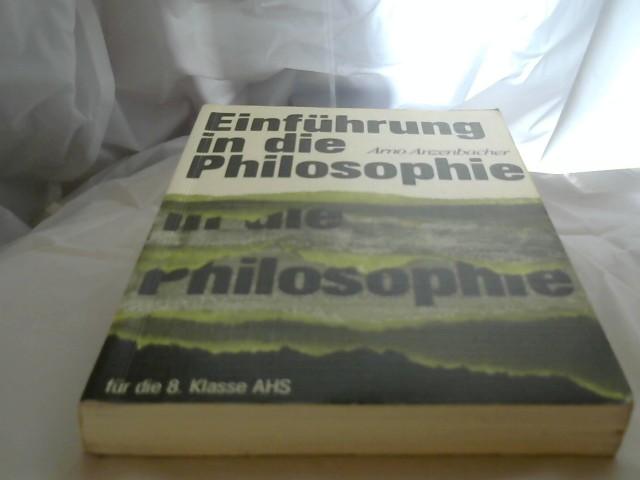 Einführung in die Philosophie. 2.Auflage