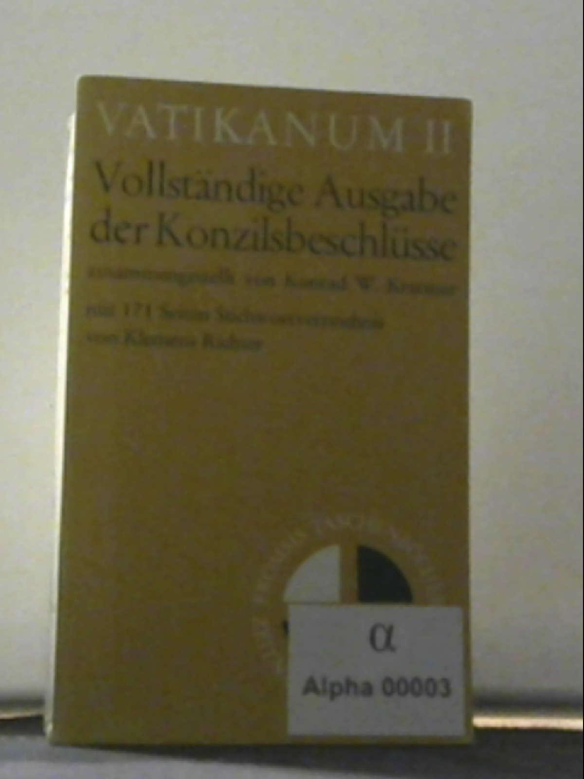 Vatikanum II. Vollständige Ausgabe der Konzilsbeschlüsse Taschenbuch