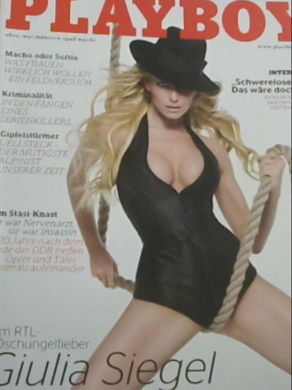 Playboy Nr. 02/2009 Im RTL-Dschungelfieber Guilia Siegel