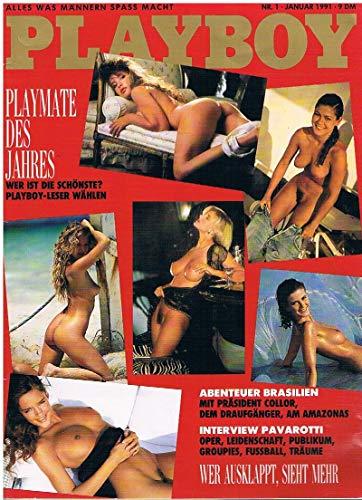 Hugh, Marston Hefner und Diverse : Playboy Magazin Januar 1991 Zeitschrift Original Deutsche Ausgabe 1/1991 CHRISTINA STIERINGER