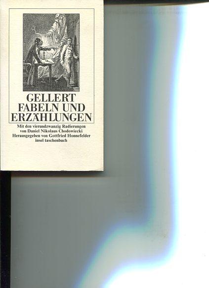 Fabeln und Lieder. Mit d. 24 Radierungen zu Gellerts Fabeln von Daniel Nikolaus Chodowiecki. Hrsg. von Gottfried Honnefelder. Insel-Taschenbuch 895.