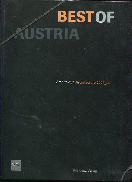 Best of Austria 2. Architektur Architecture 2008/09. Herausgegeben vom Architekturzentrum Wien. Erstauflage, EA, - ohne Autorenangabe