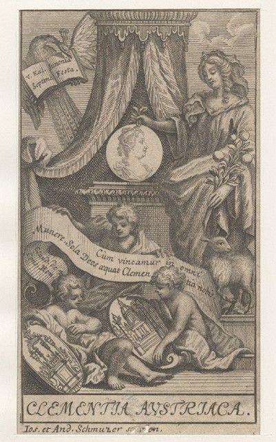 MARIA THERESIA - SCHMUZER, Ios. et And. Clementia Austriaca.