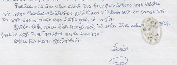 Ganzs. hs. Brief von Rudolf Brunngraber, datiert 21. April 1959.