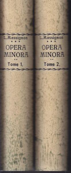 Opera Minora. Textes recueillis, classes et presentes avec une bibliographie par Y. Moubarac. Dar Al-Maaref