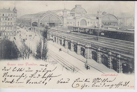 Gruss aus Dresden. Hauptbahnhof.