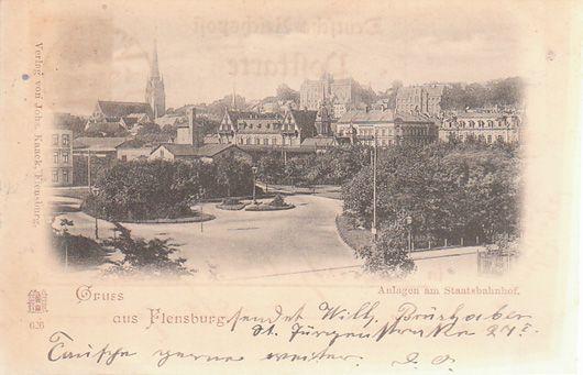 Gruss aus Flensburg. Anlagen am Stadtbahnhof.