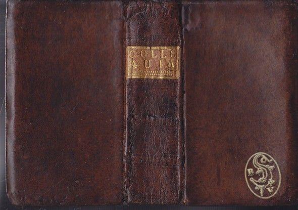 ERASMUS v. ROTTERDAM, [Desiderius]. Colloquia, ex doctorum Virorum emendatione, cum notis selectis.