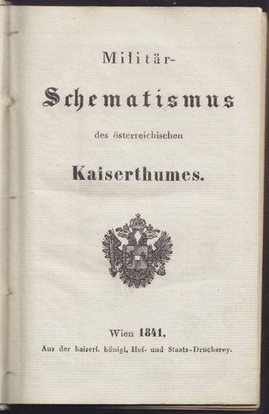 Militär-Schematismus des österreichischen Kaiserthumes.