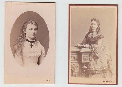 [2 Portraits zweier Damen].