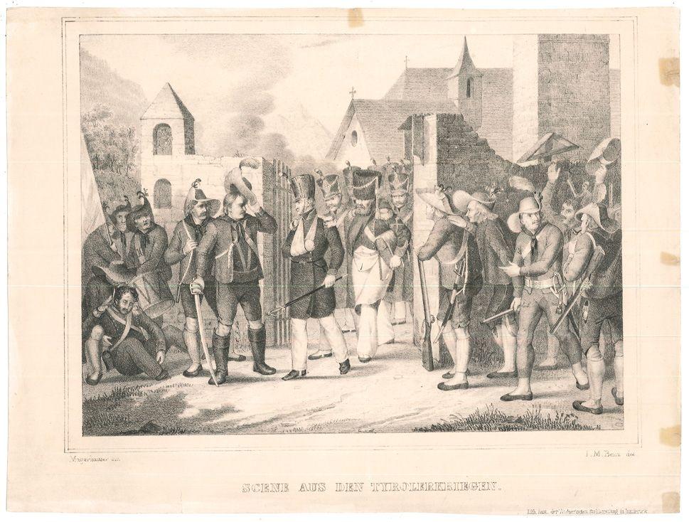 Scene aus den Tyrolerkriegen.